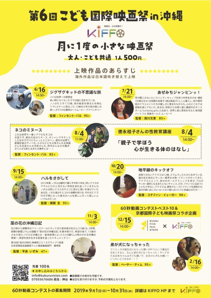 第6回こども国際映画祭in沖縄<KIFFO>月に一度の小さな映画祭詳細
